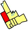 Map location of Uxbridge, Durham region, Ontario