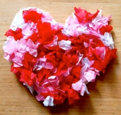 Kids Crafts; Tissue Paper Project