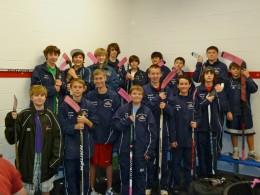 teenage hockey players.