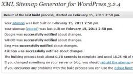 The XML Generator for Wordpress plug-in