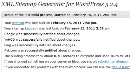 The XML Generator for Wordpress plug-in