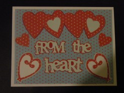 Easy to Make Valentine's Day Card using Cricut Stamping Cartridge
