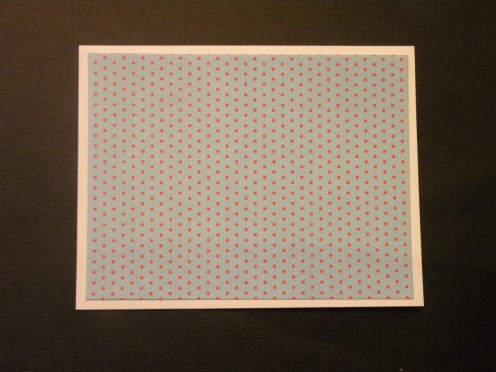 cardstock background adhered to base card