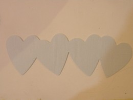 Hearts border cutout Light Blue cardstock
