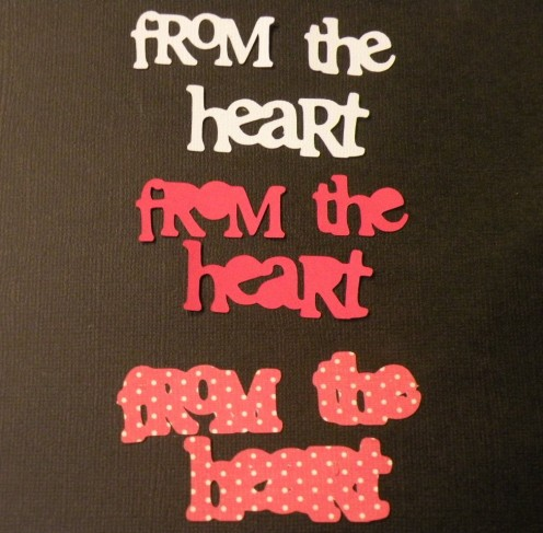 From the Heart cutouts