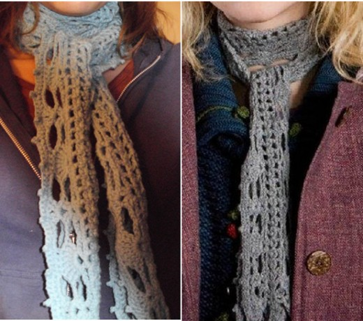 Left--my scarf;    Right--Luna's scarf
