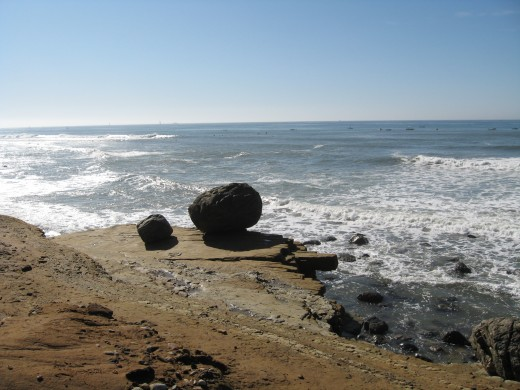 Juan Cabrillo beach near tide pools in Point Loma, CA