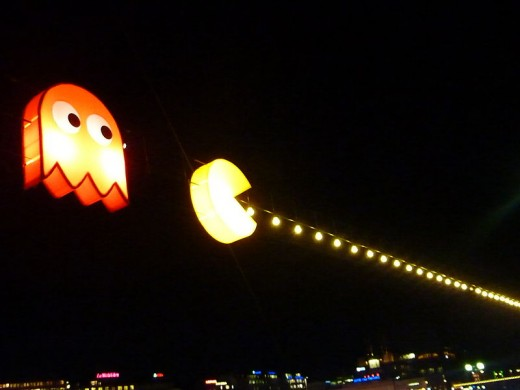 Pac-Man and Ghost