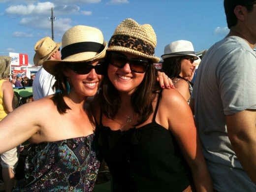 My good friend and I at Jazz Fest 2011!