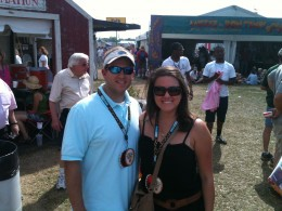 My husband and I at Jazz Fest 2011!