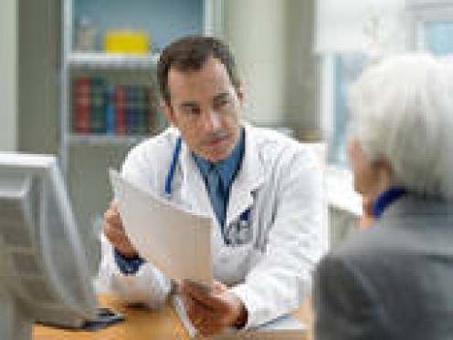 """MA'AM, ALLOW ME TO EXPLAIN,"" SAYS THIS WISE DOCTOR TO AN ELDERLY WOMAN WHO IS CONCERNED ABOUT A HEALTH ISSUE."