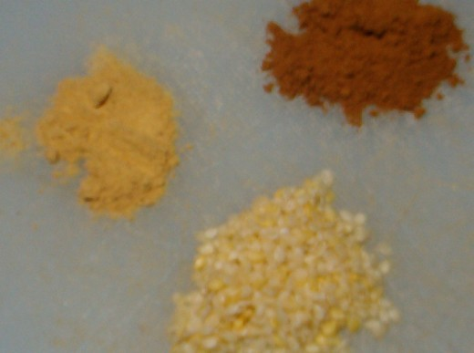 ginger, cinnamon, sesame seeds