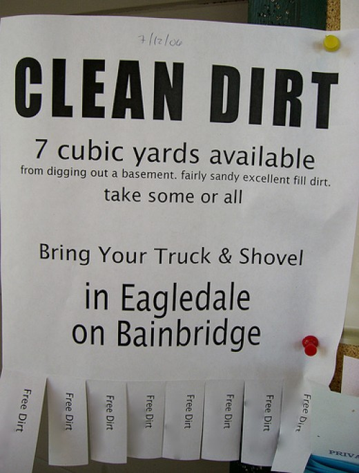 Clean dirt?