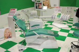 A nice clean modern dentist's office... hopefully they won't use paperclips!