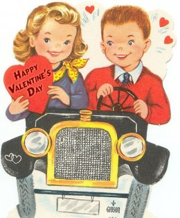 Rent a classic car for Valentine's Day.