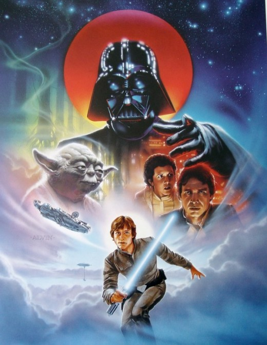 The Empire Strikes Back - art by John Alvin