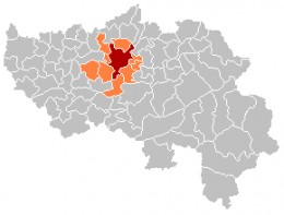 Map location of the Liège area