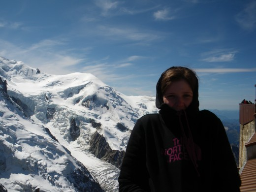 Half way up Mont Blanc; the highest mountain in Europe!