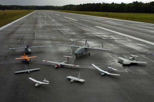 Group Of Military Drones