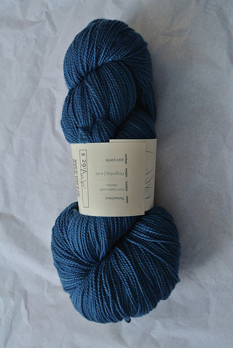 Here's a photo of Tenacious, a Sincere Sheep Yarn