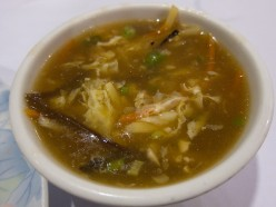 Home made chicken hot and sour soup without corn starch