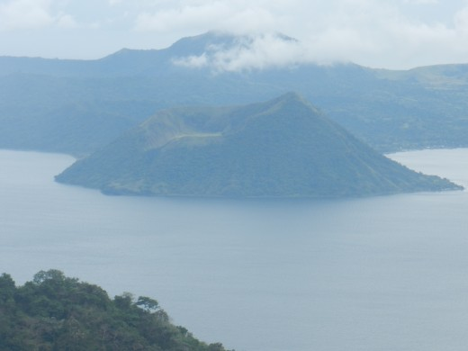 The Taal Volcano located on Taal Lake in the city of Tagaytay a few hours drive from Manila.