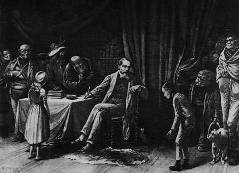 William Holbrook Beard's Depiction of Charles Dickens and His Characters.  Source: wikimedia commons, public domain