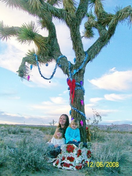 Me and my girls with our Joshua Tree