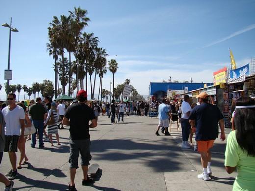 Walking at Venice Beach