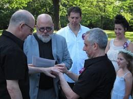 a same sex wedding