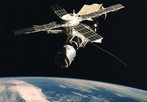 The Skylab in Orbit Around Earth