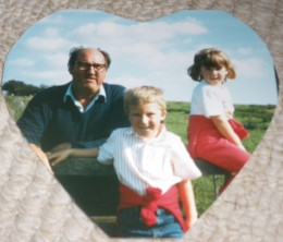 Me with my brother and my beloved grandad, when I was little and completely unaware of my future. Unaware of the disasters and bonds that would happen.
