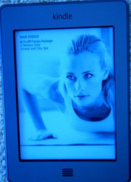 Kindle Touch 3G--with wireless internet conncection.