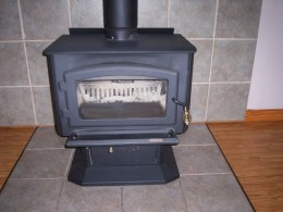 an example of a stand alone wood stove