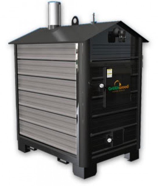 an example of an outdoor wood furnace
