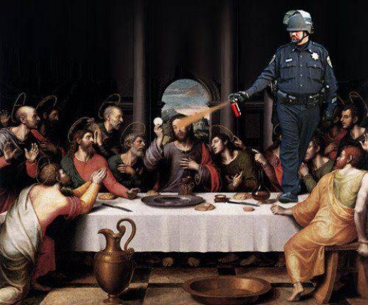 Lt. Pike last supper meme.
