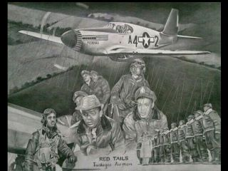 Red Tails lithograph. Make an offer for the original.