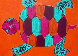 Desert Turtle - 2009 Acrylic on canvas.   The American Southwest is the inspiration for lots of my paintings