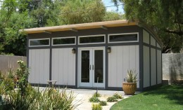 backyard office prefab. a maxwell unit converted into backyard office common use of prefab cabins and