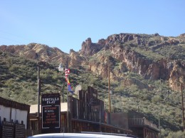 Tortilla Flat is situated in a scenic location, not far from where the legendary Lost Dutchman Mine is hidden.