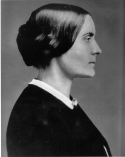 Susan B. Anthony was a rather stern-faced woman
