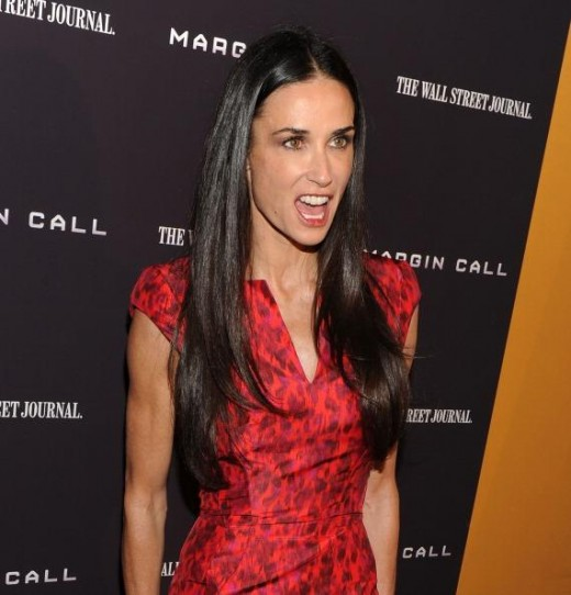 "Demi Moore is a role model for women to show what ""not to do"" in a relationship."