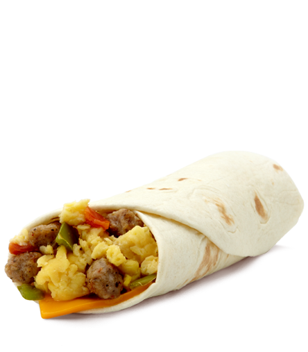 This delicious sausage burrito from McDonald's is only 300 calories!