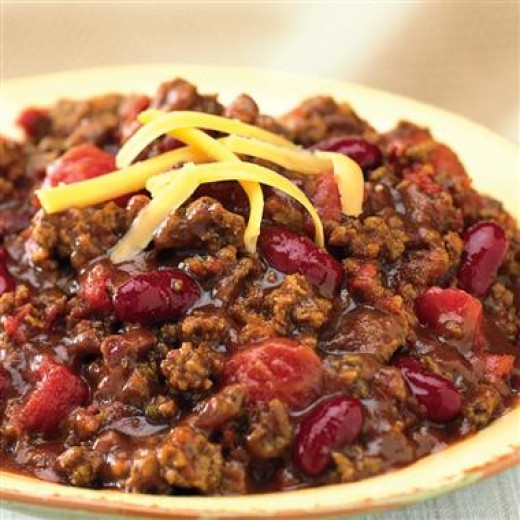 "Left over chili can be used in stuffing bell peppers, warmed up and served over salad, made into ""nachos"" or even included in enchilada and taco fillings."