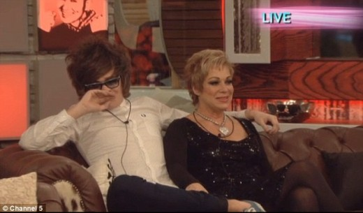 Denise and Frankie Cocozza, who came second, wait anxiously to find out who will win Big Brother
