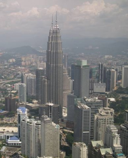 View of KL from the Menara tower