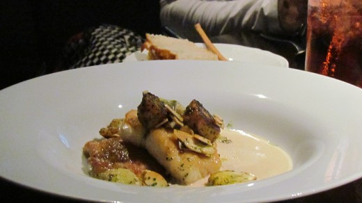 JoJo, my youngest daughter had Pollo Arrosto which was Herb roasted chicken and creamy polenta.
