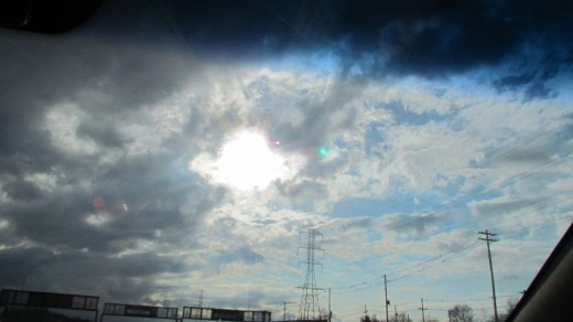 """The sun graciously peeked through the clouds after a day of rain on our, """"Family Day Out In New York.""""  It was like a seal of Jehovah God's approval for our attempt to be together as a family."""