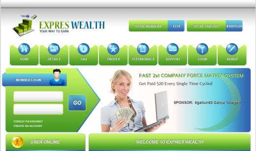 "ExpresWealth, ""HYIP"" financial pyramid scheme"