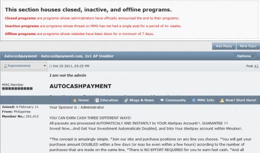 AutoCashPayment, dead program, but was pushed heavily in 2011
